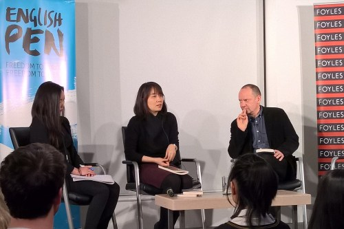 Han Kang with Philippe Sands at Foyles on 13 January