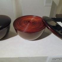 Wooden lacquer bowls by Park Gang-yong and Jung Sang-gil