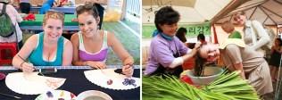 Danoje entertainments: fan painting and hair washing (photo: KTO)