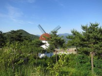 The windmill that overlooks Donguibogam Village