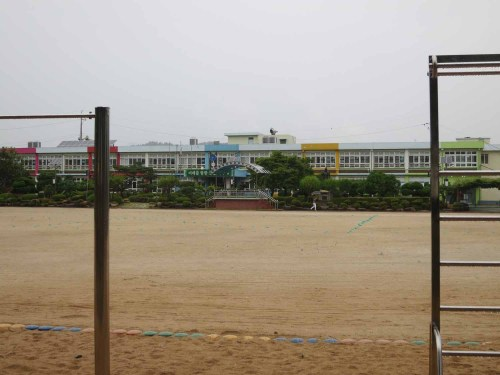 The exercise yard of Dangye Primary School