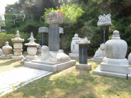 The graveyard at the entrance to the temple