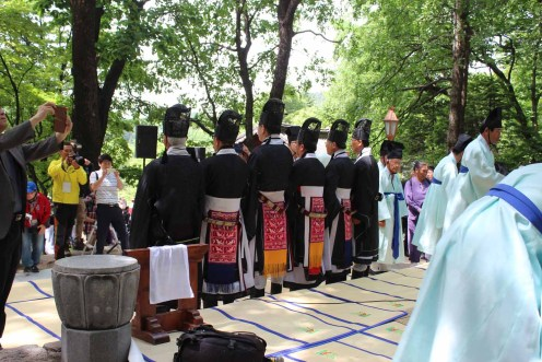Daegwallyeong Sanshinje: team photo at the end of the ceremony