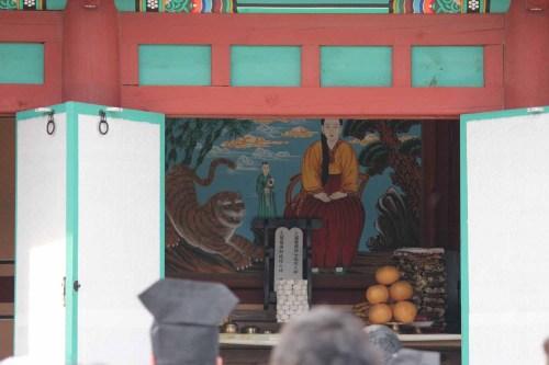 Lady Jeong, the Village Goddess, inside her shrine