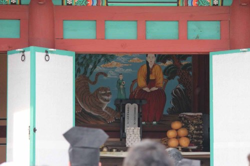 Lady Jeong, the Village Goddess, inside her shrine