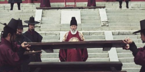 King Yeongjo (Song Kang-ho) looks on as the rice chest is opened