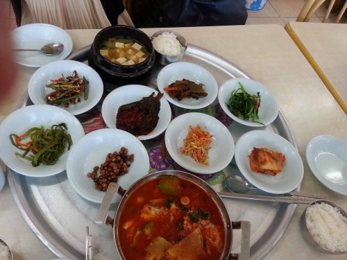 A very tasty lunch opposite Suncheon bus station