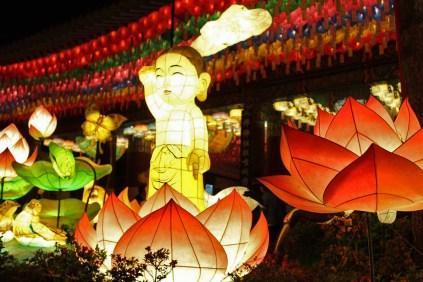 Baby Buddha lantern outside Jogyesa