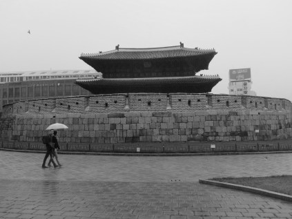 Dongdaemun in the rain