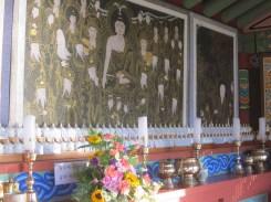 Inside Goransa's sanshin shrine