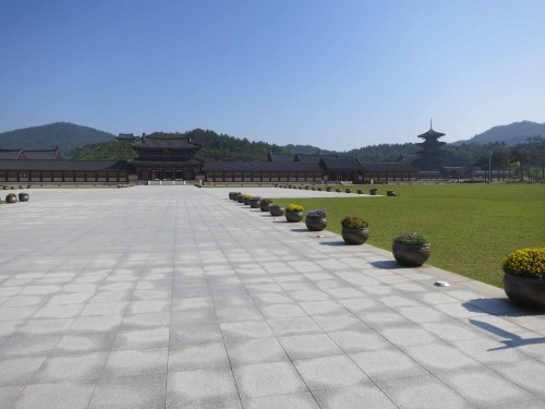 The huge open space inside Sabiseong's main gate
