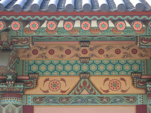 Dancheong in the palace area of Sabiseong