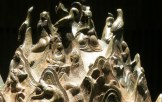 Musicians on the Gilt Bronze Incense Burner - the flute