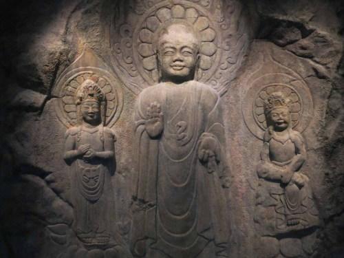 Rock-carved Buddha Triad in Yonghyeon-ri, Seosan-si