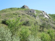 Rocky outcrops on Hwangmaesan