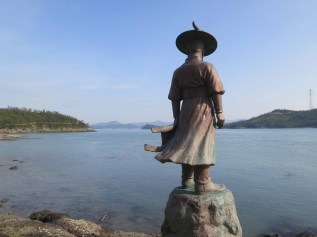 The statue of Yi Sun-shin on the Haenam waterfront