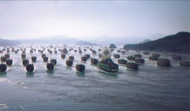Looking south-east down the strait - with the Japanese fleet in glorious CGI