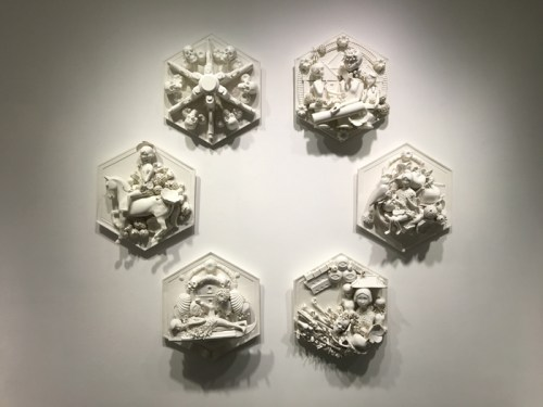 Lee Yun Hee, 'La Divina Commedia', porcelain, 29 x 29 x 12 cm each. Image courtesy the artist and Art Projects Gallery.