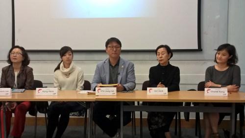 Kang Hana, Cho Chong-rae and Son Sook at SOAS on 28 October