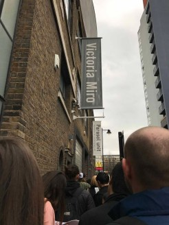 The queue outside the gallery