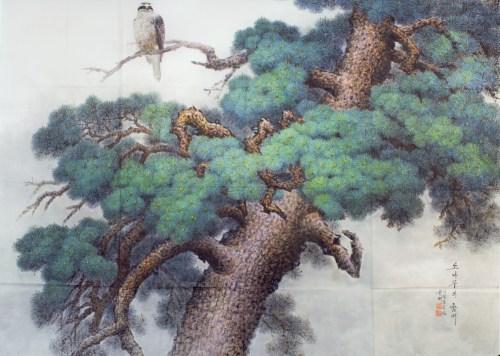 Chun Young: Pine Tree and Hawk