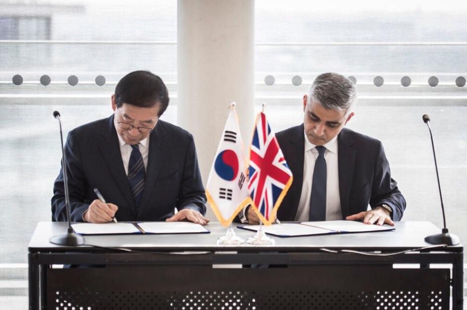 London And Seoul Sign Friendship City Agreement London Korean Links
