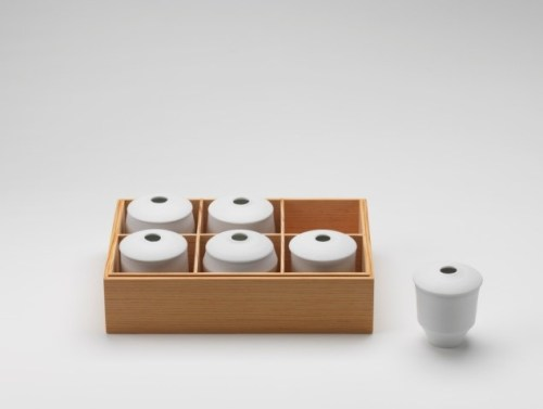 Ko Hee Sook: White Morning: Set of six white lidded bowls (2009)