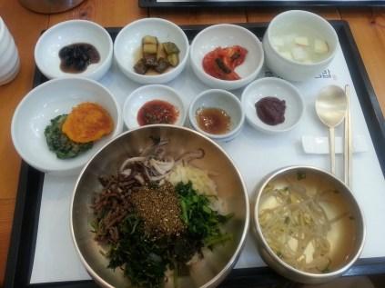 An excellent bibimbap in Mungyeong
