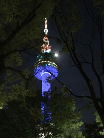 Namsan Tower at night