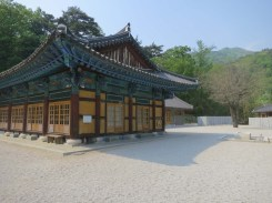 Daewonsa - when on retreat, for exercise monks walk around the tree as they meditate