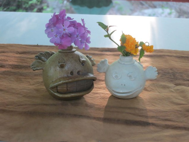 Novelty ceramics at the Mungyeong tea bowl festival