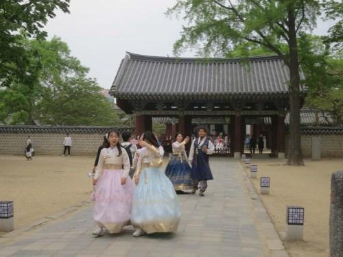Near King Taejo's shrine and the royal portrait museum in Jeonju