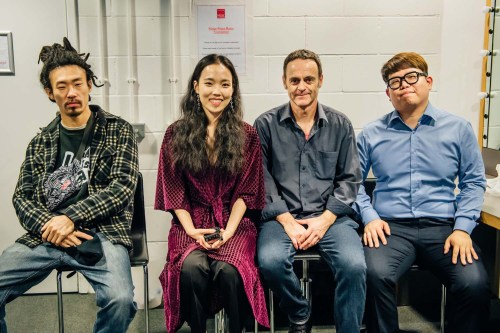 L to R: Kim Oki, Park Jiha, John Bell and Kang Tekhyun (photo: KCCUK)