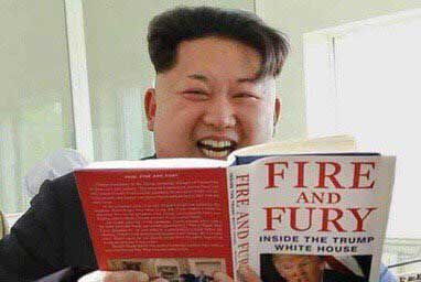 Kim Jong Un with Fire and Fury