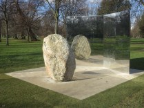 Lee Ufan: Relatum - Stage, outside the Serpentine Gallery (photo: LKL, 17 February 2018)