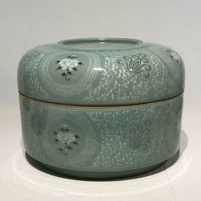 Celadon container by Yoo Kwangyul