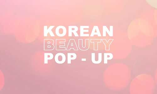 K-beauty pop-up