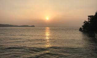 Sunset at Mallipo beach
