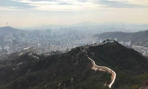 The view from Inwangsan, Seoul