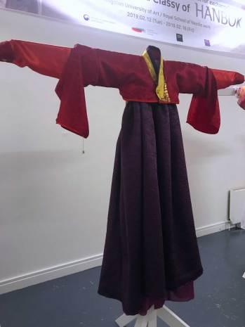 Hanbok design by 3. Emma Caldas, Ffion Martin & Molly Moreton