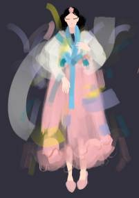 Hanbok design by Joy Julius, Yujin Lee & Kristin Manolova. Illustration by Nataliya Grimberg