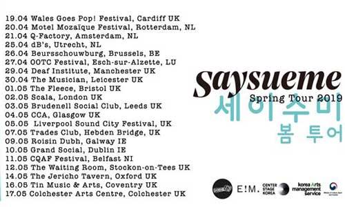 Say Sue Me 2019 tour dates