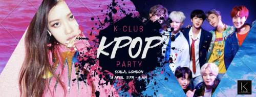 Easter K-pop party banner