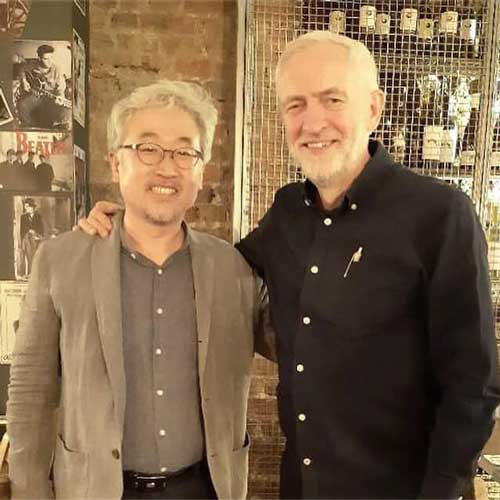 Daehoon Lee and Jeremy Corbyn