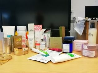 Some of the beauty products being discussed