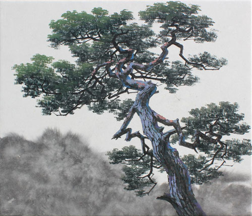 Gnarled pine tree