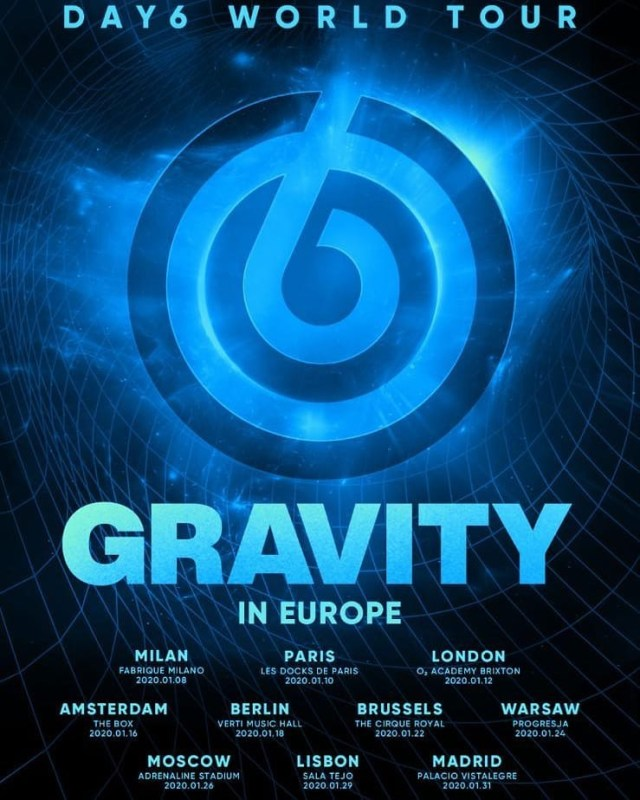 Day6 Gravity Tour poster