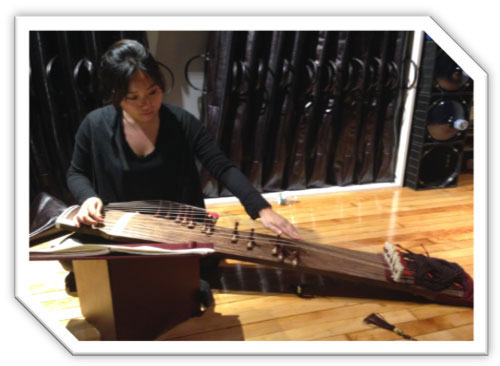 Hyun Ji Oh playing her 12-string gayageum