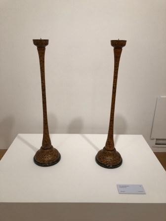 Yang Yoo-jeon: gilt ottchil candlestick set