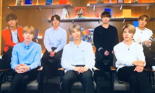 BTS appearing via livestream at the Serpentine
